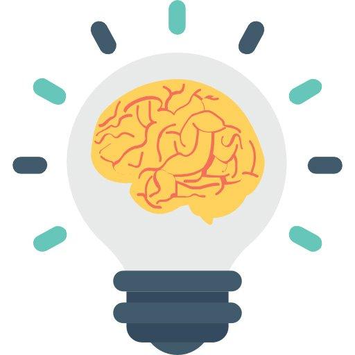Intento di ricerca - lampadina con cervello dentro
