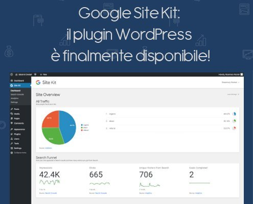 Google Site Kit Plugin WordPress finalmente disponibile!